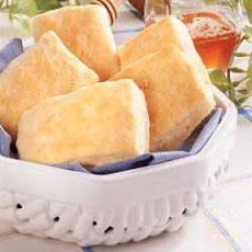 Butter-Dipped Biscuit Squares Recipe