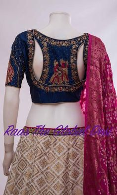 Shop for a variety of blouses in high neck, sleeveless, boat neck, sleeveless, embroidered & more online. Choli Designs, Lehenga Designs, New Saree Blouse Designs, Blouse Designs Catalogue, Fancy Blouse Designs, Indie Mode, Designer Blouse Patterns, Designer Dresses, Stylish Blouse Design