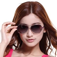Free Shipping Brand Professional Sunglasses Women Fashion  Sunglasses Polarized Light Sunglasses Withsand UV 400 Cool $10.00