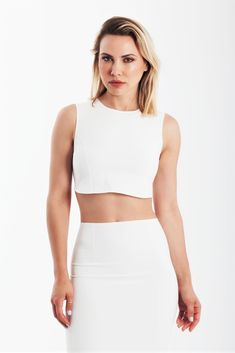 super cut out jersey bodycon midi dress in white Crop Top Dress, Cropped Top, Tight Dresses, Dress Party, Tights, White Dress, Nude, Culture, Crop Tops