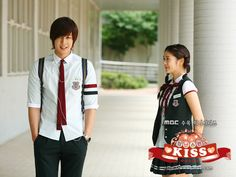 Playful Kiss. Only in the soaps will a genius fall in love with an idiot. SMH Real cute though that Kim Hyun-joong. ;D His constant tease and ridicule made me laugh.