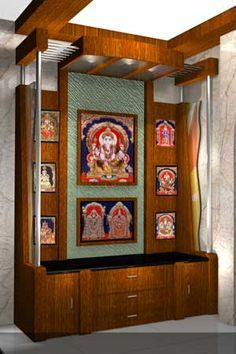 Get these beautiful pooja room design ideas for your homes. Use our pooja room design ideas to build a perfect place for praying and meditating. Pooja Room Door Design, Room Interior Design, Interior Designing, Indian Home Interior, Indian Home Decor, Temple Design For Home, Mandir Design, Puja Room, Room Doors