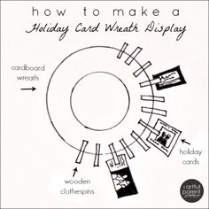 How to Make a Holiday Card Wreath Display (plus a free printable tutorial)