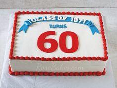 Class Reunion Cake | http://rosebakes.com/class-reunion-cake/