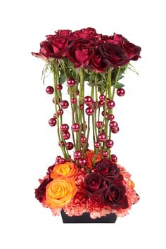 a twist on the traditional red rose bouquet