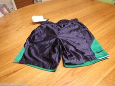 Boy's Nike active youth reversible shorts 5 kids court green NEW mesh NWT logo