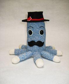 Stuffed octopus toy Bernie the Socktopus by TheMonkeyVillage, $45.00
