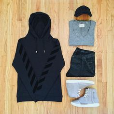 WEBSTA @ ldn2hk - Triple Black #outfitgrid @outfitgrid @dennistodisco // Hoodie…