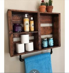 Crate towel holder