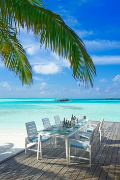 Feeling blue? Us too, but in a good way. Vilu Restaurant at Conrad Maldives Rangali Island