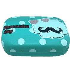 BuyHere Cute Mustache Nice Day Lens Case, Green