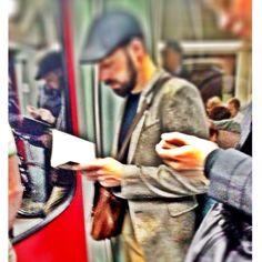 Berlin / public reading / subway