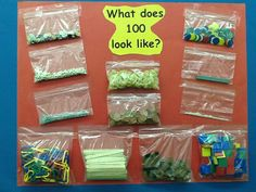 What does 100 look like? By Grisselle Math Workshop, Workshop Ideas, Counting To 100, Foundation Stage, Wild Weather, Number Recognition, 100 Days Of School, Numeracy, Eyfs