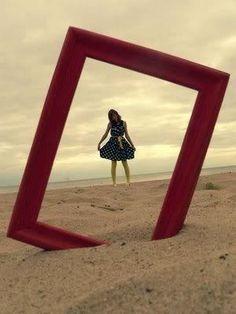 shoot your photo through a frame