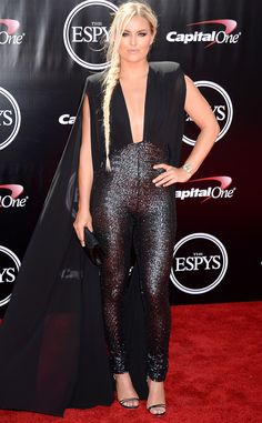 Lindsey Vonn from 2016 ESPYs Red Carpet Arrivals  Fittingly, the champion skier is wearing something that would also look amazing billowing behind her on the slopes.
