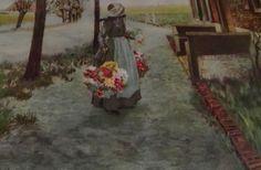 Bringing Home Flowers Large Art Print, 1930's via Etsy.
