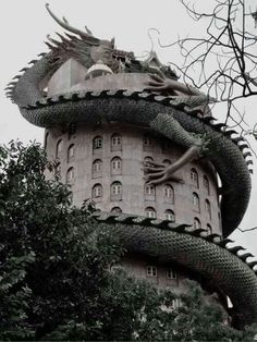 This is really cool. Wat Sampron (Dragon temple) near Bangkok, Thailand.