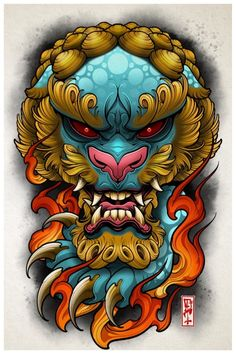 full sleeve tattoos with meaning Foo Dog Tattoo Design, Japan Tattoo Design, Japanese Tattoo Designs, Japanese Tattoo Art, Japanese Sleeve Tattoos, Full Sleeve Tattoos, Japanese Art, Japanese Dragon, Japanese Prints