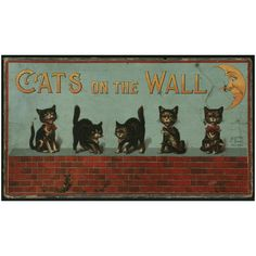 Antiques, Oddities and Vintage / Cats on the Wall Game c.1885 McLoughlin Bros.