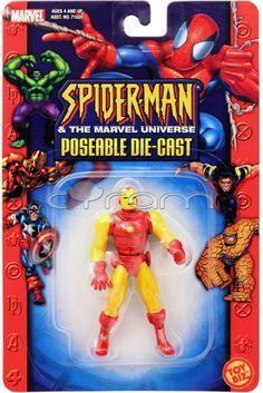 #IronMan (Classic Armor) Die-Cast #Actionfigur von #ToyBiz (2003) | http://www.cyram-entertainment.de/shop/products/Figuren-Statuen/Marvel/Spider-Man-The-Marvel-Universe/Iron-Man-Classic-Armor-Die-Cast.html #diecast