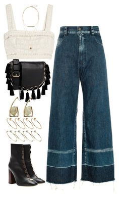A fashion look from August 2017 featuring white top, tapered jeans and leather bootie. Browse and shop related looks. Look Fashion, 90s Fashion, Korean Fashion, Fashion Outfits, Womens Fashion, 70s Inspired Fashion, Retro Outfits, Stylish Outfits, Vintage Outfits
