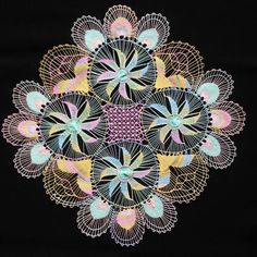 Tenerife, Indian Mandala, Running Stitch, Needle Lace, Thread Work, Loom Weaving, Loom Knitting, Embroidered Lace, String Art