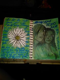 Sister art journal page