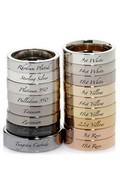 The different metal types of wedding rings