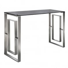 Introducing the newest addition to our collection of glass furniture, this beautiful Stainless Steel And Smoked Glass Console Table is a perfect modern touch to add to your home for a interior upgrade.   #glassfurniture #glassinterior #glassinteriors #glassinteriordesign #furnituredesign #vintagefurniture #inspohome #betterhomesandgardens #antiquefurniture #luxuryinteriors #luxurydecor #passion4interior #styleathome #roomforinspo #homesdirect365 #homeinspiration #decor