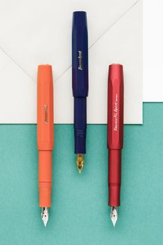 The Kaweco Sport is a pocket-sized fountain pen that when posted transforms into a full-sized pen that easily fits in your hand. Kaweco Fountain Pen, Fountain Pen Ink, Goulet Pens Company, Pen Collection, Stationery Pens, Best Pens, Writing Instruments, In Writing, Moleskine