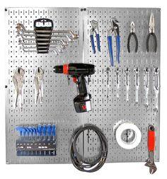 Metal Pegboard Tool Organizer Starter Kit