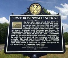First Rosenwald School Marker Photo