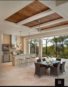 Stock Development: Bay Woods at Bonita Bay: Cameron Wooden Ceiling Design, House Ceiling Design, Ceiling Design Living Room, Bedroom False Ceiling Design, Ceiling Light Design, Home Ceiling, Ceiling Decor, Living Room Designs, Ceiling Ideas