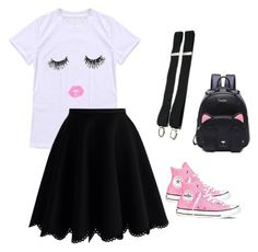 """""""Dress up casual"""" by bobi-ezell on Polyvore featuring Chicwish and Converse"""