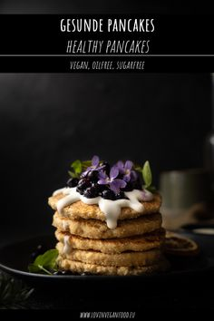 My Recipes, Whole Food Recipes, Vegan Recipes, Low Carb Pancakes, Sweets Cake, Vegan Sweets, Sugar Free, Muffins, Breakfast