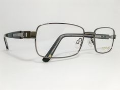 Óculos Grande Armação Metal Masculino Tamanho 57 Grafite