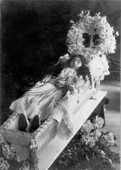 Latin America, 1911 young girl lying in state