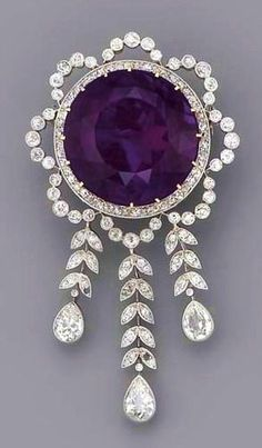 Amethyst Brooch, 190 fashion love