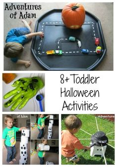 8+ Toddler friendly Halloween activities. Easy to make and lots of Halloween…