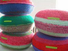 Almohadones tejidos crochet (costura al medio)