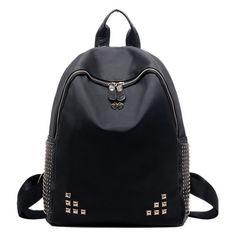 Side Pocket Rivet Backpack #women, #men, #hats, #watches, #belts, #fashion, #style