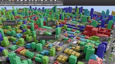 3D visualisation of Vancouver