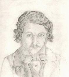 William Morris, self portrait, 1856