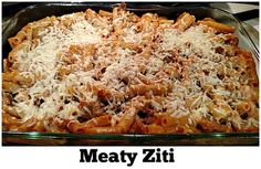 Perfect winter comfort food! - Meaty Ziti Recipe - From Val's Kitchen