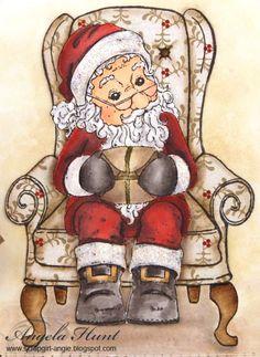 Bilderesultat for Magnolia stamps Edwin as santa
