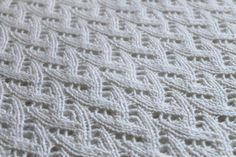 100% Cashmere Hand Knit Off White Baby Blanket