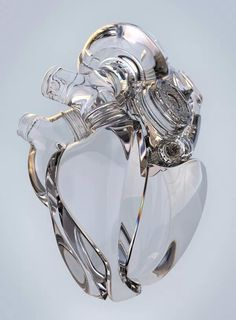 Weird Twist: Anatomically Correct Heart of Glass Abstract Illustration, Heart Illustration, Digital Illustration, Sculpture Textile, Arte Robot, Anatomical Heart, Human Heart, Heart Art, Cyberpunk