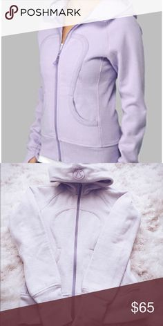 Lulu Lemon Scuba Hoodie in Lavender! Naturally breathable Cotton Fleece fabric feels thick, soft and cozy long after you've cooled down Worn twice- condition is like new! -soft and cozy -naturally breathable -heat retention lululemon athletica Tops Sweatshirts & Hoodies