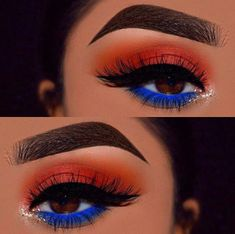 Gorgeous Makeup: Tips and Tricks With Eye Makeup and Eyeshadow – Makeup Design Ideas Makeup Eye Looks, Blue Eye Makeup, Cute Makeup, Gorgeous Makeup, Skin Makeup, Blue Eyeshadow Makeup, Easy Makeup, Yellow Eyeshadow, Eyeshadow Palette