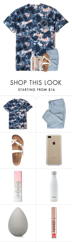 """""""it's saturday and i wont be long. gotta paint my nails, put my high heels on"""" by classyandsassyabby ❤ liked on Polyvore featuring Hollister Co., Birkenstock, Belkin, Too Faced Cosmetics, beautyblender and Urban Decay"""